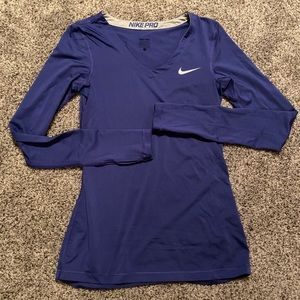Nike Royal Blue Fitted Workout Shirt Tee